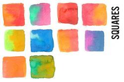 Squares clipart watercolor