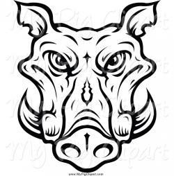 Warthog clipart boar head