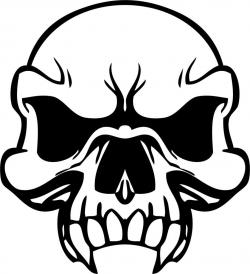 Ssckull clipart coloring page