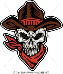 Ssckull clipart cowboy