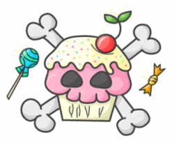 Ssckull clipart cupcake