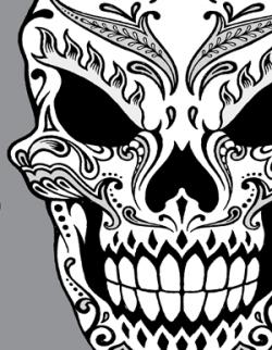 Drawn sleleton dia de los muertos