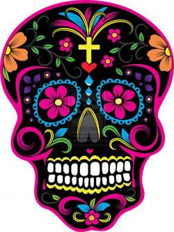 Sugar Skull clipart dia de los muertos skeleton