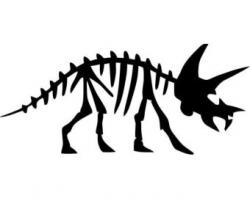 Triceratops clipart fossil