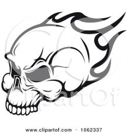 Ssckull clipart flame drawing