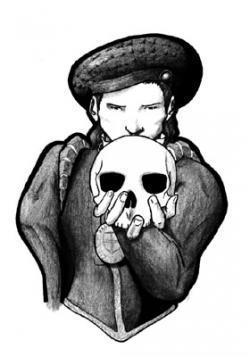 Drawn ssckull hamlet skull