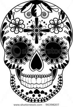 Sugar Skull clipart drawn