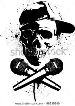 Ssckull clipart microphone