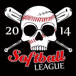 Ssckull clipart softball