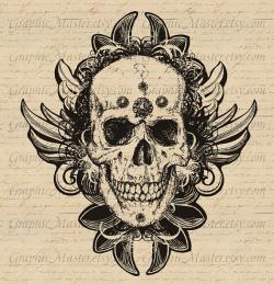 Steampunk clipart skull