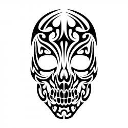 Skullcandy clipart tribal