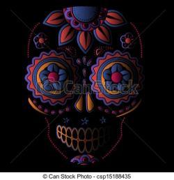 Sugar Skull clipart voodoo