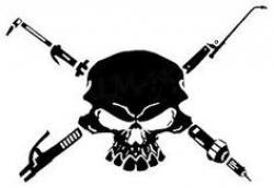 Welder clipart skull
