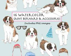 St. Bernard clipart three dog