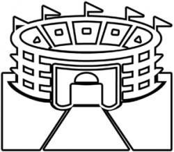 Stadium clipart black and white