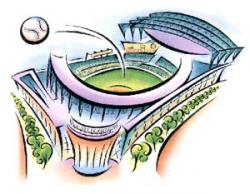 Stadium clipart homerun