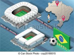 Stadium clipart isometric