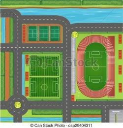 Stadium clipart sports center