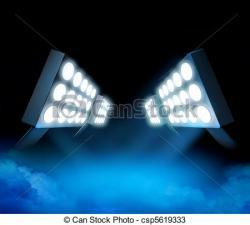 Stadium clipart stadium light