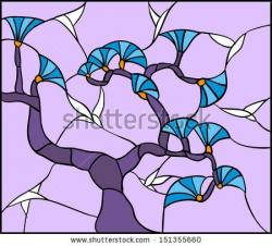 Stained Glass clipart violet