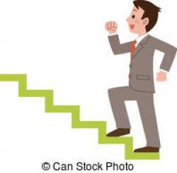 Women clipart climbing stair