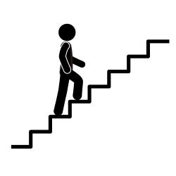 Men clipart climbing stair