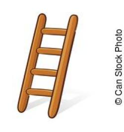 Stairs clipart wooden ladder