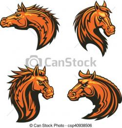 Stallion clipart angry horse