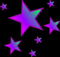 Falling Stars clipart moon star