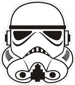 Stormtrooper clipart black and white