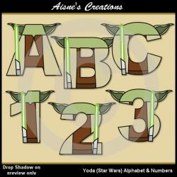 Star Wars clipart alphabet