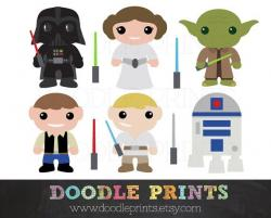 Luke Skywalker clipart princess leia