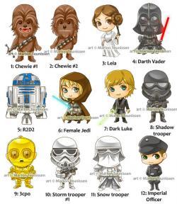 Star Wars clipart chibi