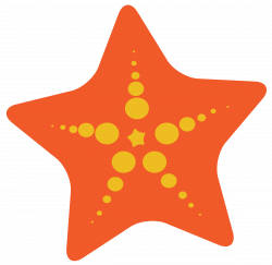 Colorful clipart starfish