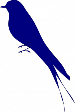 Bluebird clipart vector