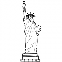 Statue Of Liberty clipart easy drawing