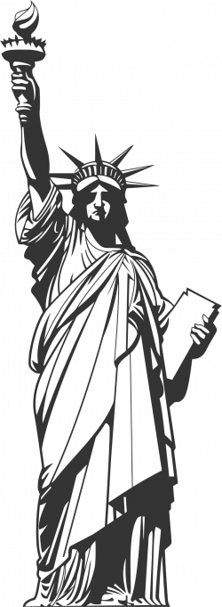 Statue Of Liberty clipart line drawing