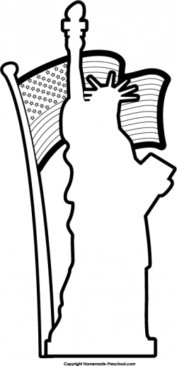 Statue Of Liberty clipart outline