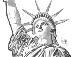 Statue Of Liberty clipart sketch