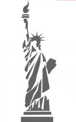 Statue Of Liberty clipart stencil