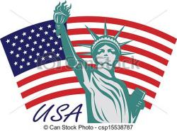 Statue Of Liberty clipart usa