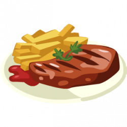 Beef clipart steak dinner
