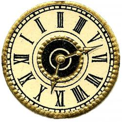 Steampunk clipart antique clock