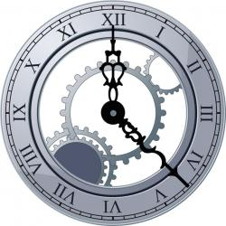 Steampunk clipart clock face