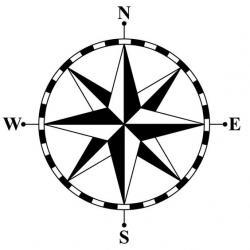 Compass clipart compass rose
