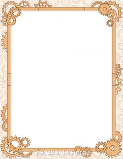Steampunk clipart frame