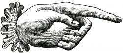 Victorian clipart hand pointing