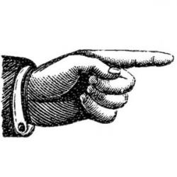 Steampunk clipart hand pointing
