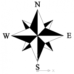 Steampunk clipart north arrow