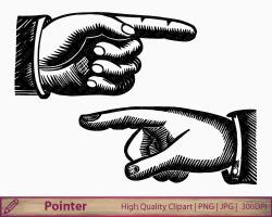 Victorian clipart pointer finger